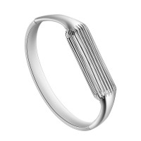 "Aresh Compatible Fitbit Flex 2 Bangle, New Fashion Accessory Bracelet Band Compatible with Fitbit Flex 2 , For wrist size: 6.3""-6.5"" (Silver-Small)"